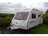 Excellent 5 berth single axle caravan for sale, Sterling Eccles Amethyst 2006 with mover & equipment