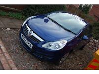 Vauxhall Cosa 1.2 Club 2007 BLUE. 3 door, 2 keepers