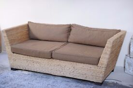 Wicker sofa from polaris world, spain for sale - Must be picked up by Wednesday 8th February