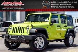 2016 Jeep WRANGLER UNLIMITED New Car Sport 4x4|Manual|Dual Top,P