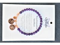 Chrysalis Amethyst bracelet 'Transformation'.