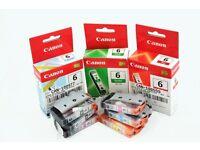 Genuine Canon Ink BCI-6 full set G/R/Y/M/C/PM/PC/Bk