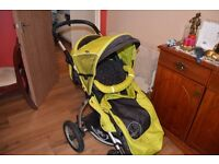 X-lander pushchair/carrycot/and adapters for maxi cosi car seat