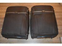 Black suitcases