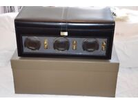 £300 or best offer Dulwich Designs Heritage Triple Watch Winder Box, Black - barely used