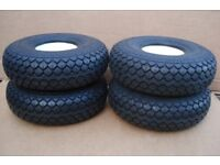 NEW 400 x 5 (330 x 100) BLACK Puncture Proof Mobility Scooter Tyres - Free delivery up to 30 miles