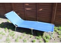 Blue sun lounger (never used!)