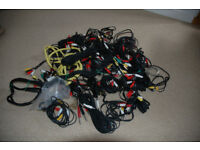 Large quantity of mainly unused or hardly used audio cables.