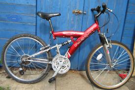 Tiger Passat full suspension mountain bike. Suit 8 to 12 year old