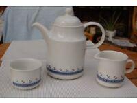 Bilton's Coloroll Kilncraft Coffee Pot, Creamer and Sugar Bowl in As New Condition