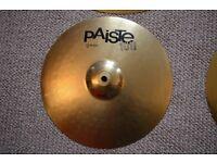 Hi-hat cymbals: Paiste Brass 101