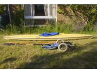 Ottersport kayak + Kari-Tek rack