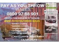 Fully Licensed Cardiff skip hire alternative you can trust from Pay as you Throw Wales
