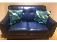 DFS leather 2 seat sofa