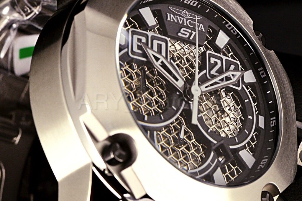 $299.95 - Invicta S1 Rally Silver Tone 52mm Twisted Metal Black Chronograph Dial SS Watch