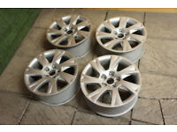"Genuine Audi A5 17"" Alloy wheels 5x112 Audi A4 A7 A8 VW Golf Caddy Passat Alloys"