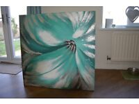 Green flower painting.