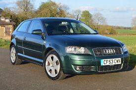 2003 Audi A3 Sport 3.2L V6 Quattro - 6 Spd Manual, Bose Sound, Long MOT, Great Condition