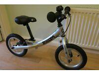 Zooom balance bike - silver, excellent condition