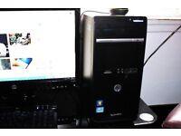 HP DESKTOP, i3 QUAD CORE, 4GB RAM, 1TB HARD DRIVE, WINDOWS 10
