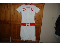 NURSE FANCY DRESS SIZE MEDIUM. COLLECTION FROM WHITBY OR CAN POST.