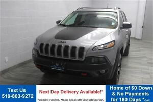 2016 Jeep Cherokee 4WD w/ LEATHER! NAVIGATION! PANO SUNROOF! HEA