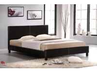SINGLE DOUBLE AND KING SIZES* BRAND NEW LEATHER BED FRAME WITH FULL FOAM MATTRESS WITHOUT SPRINGS