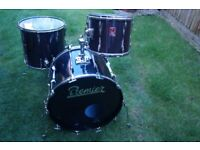 Premier Black Shadow drum shell pack - Leicester - '80s - Flagship Resonator series - Vintage