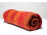 Yak wool blanket/shawl RED