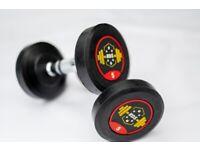 Round Rubber Dumbbell Set Hex Gym - 2.5kg, 5kg, 10kg, 15kg, 20kg, 25kg & 30kg