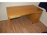 Nice big solid computer desk/table with drawers