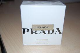 PRADA L'Eau Ambree Eau De Parfum 80ml New and Boxed Ideal Gift