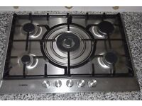 Bosch 70cm Gas Hob Stainless Steel.