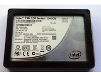 Intel 520 240GB 2.5'' SATA SSD 7mm / 9.5mm 100% health and 100% life remaining