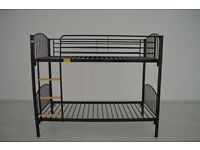 ❤HIGH QUALITY❤Brand New Single Metal Bunk Bed Frame, 7inch Thick Foam Mattresses available 3FT Kids
