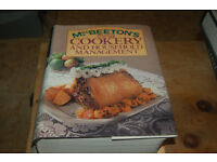 Mrs Beetons vintage cookery book , Delia Smith Christmas, Hairy bikers Meat Feast
