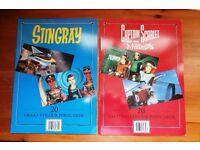 STINGRAY PLUS CAPTAIN SCARLET-20 GREAT COLOUR POSTCARDS BOOK SETS-ALDINO 1993