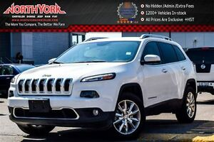 2016 Jeep Cherokee Limited|4x4|Nav|RearCam|R-Start|HtdFrSeats|Bl