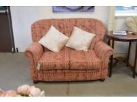 Red and Cream Stripe 2 Seat Sofa - GT 067