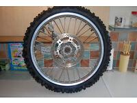 suzuki rm125/250 motocross takasago excel rims/hubs/brake disks/tyres