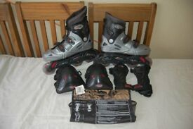 Used - No Fear Roller Blades/Inline Skates - UK Young Adult Size 6