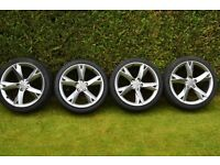 "19"" GENUINE AUDI A5 ALLOYS WITH TYRES 5X112"