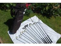 F.O.R.G.A,N. Golf Clubs. Full set + bag/stand.