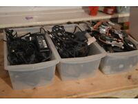 LOT OF LAPTOP POWER ADAPTERS, CHARGERS AND COOLING FANS ,