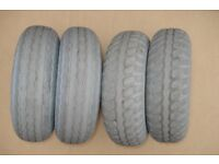 4 x part worn tyres for mobility scooter 3.00-4 (260 x 85) for Shoprider, Rascal and others
