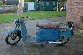 Classic 1957 Mercury Hermes Dolphin Scooter Moped (Villiers engine) £1400 ONO
