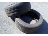 2 x 225/50/ZR 17 tyres