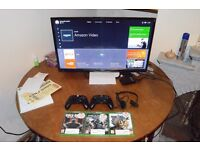 Xbox One, TV, 2 controllers, 3 Games