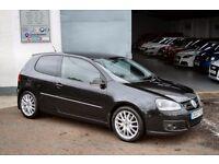 2007 VW GOLF GT SPORT 170 TDI FSH TOP SPEC 6 MONTHS FREE WARRANTY + LOW FINANCE NOT LEON A3