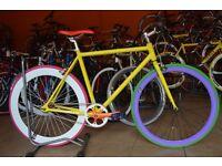 Brand new Aluminium single speed fixed gear fixie bike/ road bike/ bicycles 7f